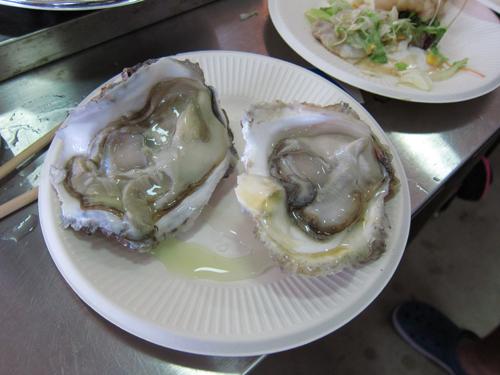 前夜祭の生牡蠣